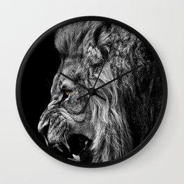 lion roaring Wall Clock