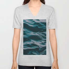 water waves Unisex V-Neck