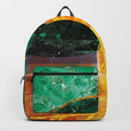 boat at sunset Backpack