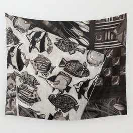 Charcoal Chaos Wall Tapestry
