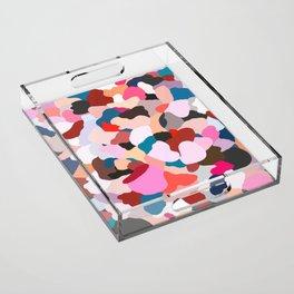 petals: abstract painting Acrylic Tray