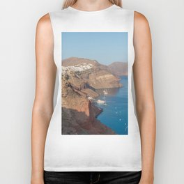 Santorini Caldera Biker Tank