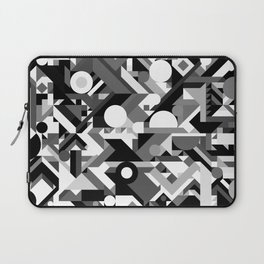 GEOMETRY SHAPES PATTERN PRINT (BLACK AND WHITE COLOR SCHEME) Laptop Sleeve
