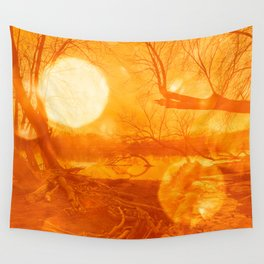 Golden Bokeh Hour Wall Tapestry