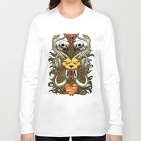 kitty Long Sleeve T-shirts featuring Kitty by 110specialblack
