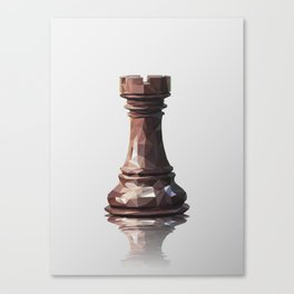 rook low poly Canvas Print