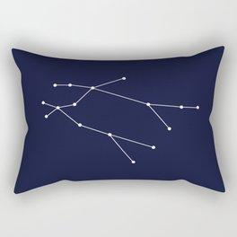 Gemini Star Sign Deep Blue Rectangular Pillow