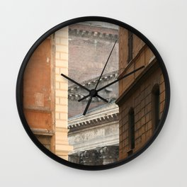 Street View of the Pantheon of Rome Wall Clock