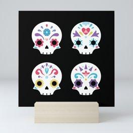 Cute sugar skulls B Mini Art Print