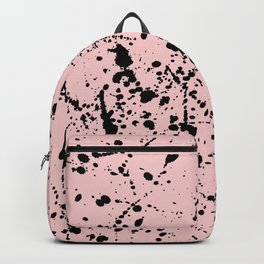 Splat Black on Blush Backpack