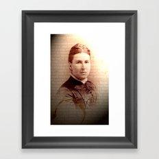 Sepia Number 3 Framed Art Print