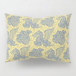 Pegasus Pattern Grey and Yellow Pillow Sham