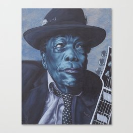 John L Hooker in Blue Canvas Print