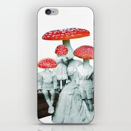 amanita muscaria with children iPhone Skin