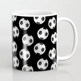 Soccer Ball Pattern-Black Coffee Mug