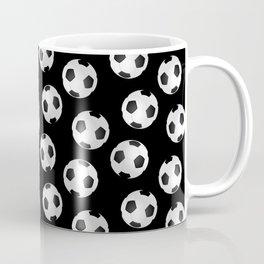 Soccer Ball Pattern-Black Coffee Mug