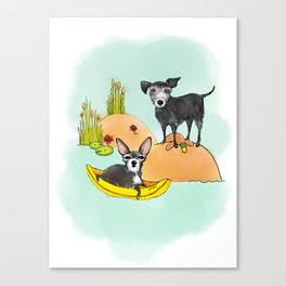 otto and Ethel Canvas Print