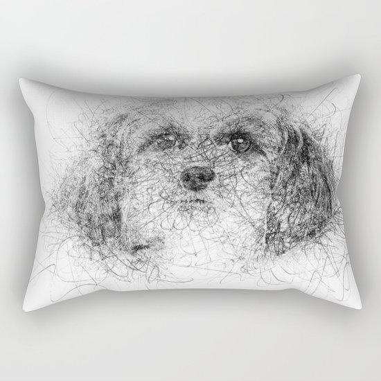 Dog Line Rectangular Pillow