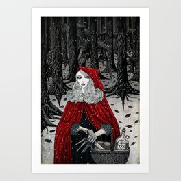 In the Company of Wolves. Art Print