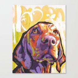 Vizsla Dog Portrait bright colorful fun Pop Art by LEA Canvas Print