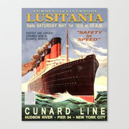 Vintage poster - Lusitania Canvas Print
