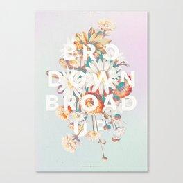 Bro Down, Broad Up Canvas Print