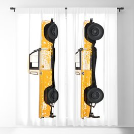 LANDROVER YELLOW Blackout Curtain