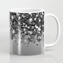 Black & Gunmetal Gray Silver Ombre Coffee Mug