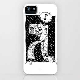 Boombox blckbckgrnd iPhone Case