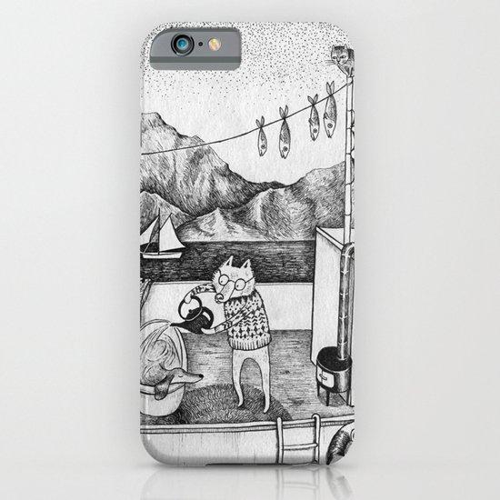 Fox on Fishing-boat iPhone & iPod Case