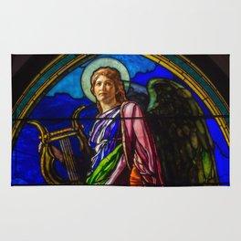 "John La Farge ""The Angel Holding a Lyre (or The Harpist)"" window Rug"