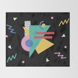 Memphis pattern 47 - 80s / 90s Retro Throw Blanket