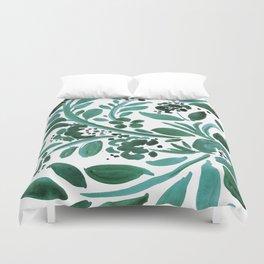 Jade Floral Duvet Cover