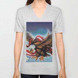 Liberty Eagle by Topaz Unisex V-Neck