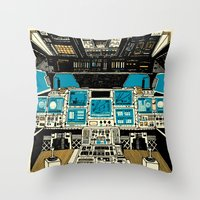 outer space Throw Pillows featuring To Outer Space! by Ben Chlapek