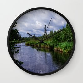 Boundary Waters Entry Point Little Indian Sioux River Bed Wall Clock