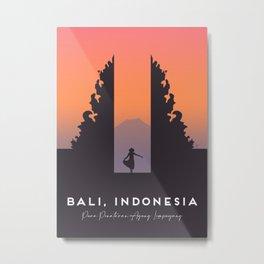 Bali Temple, Indonesia, Pura Penataran Agung Lempuyang Travel Poster Metal Print