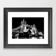 Tower Bridge Opening Framed Art Print