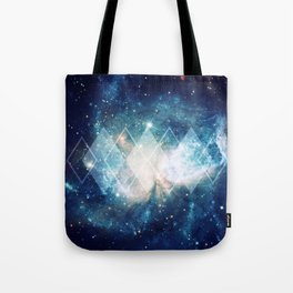 Shining Nebula - Blue Tote Bag