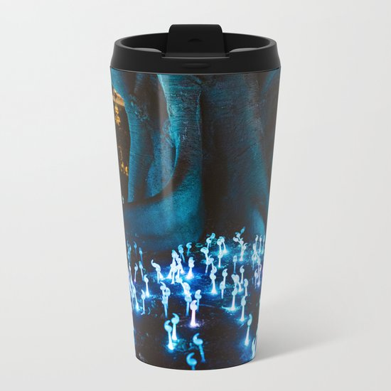 Fantasy forest with magic mushrooms Metal Travel Mug