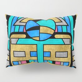 Scarabesque - Digital Art Deco Design Pillow Sham