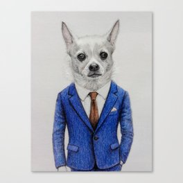 gentleman dog Canvas Print