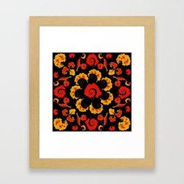 Traditional russian folk Framed Art Print