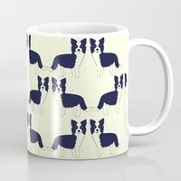 border collie Mugs featuring Border Collie  by Heroinax