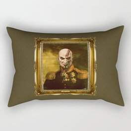 Kratos General Portrait Painting | god of war Fan Art Rectangular Pillow