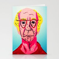 larry david Stationery Cards featuring Larry David 1 by Alyssa Underwood Contemporary Art