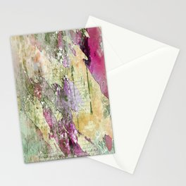 Love Letter Expression on Multi-Color Paint Splatter Abstact by Saletta Home Decor Stationery Cards