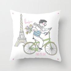 France love Throw Pillow