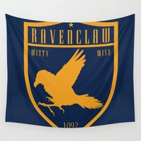 ravenclaw Wall Tapestries featuring Ravenclaw Crest by machmigo