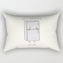 I'm Beautiful Inside Rectangular Pillow